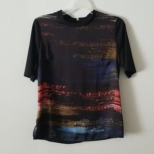 Forever21 satin sheen funky top